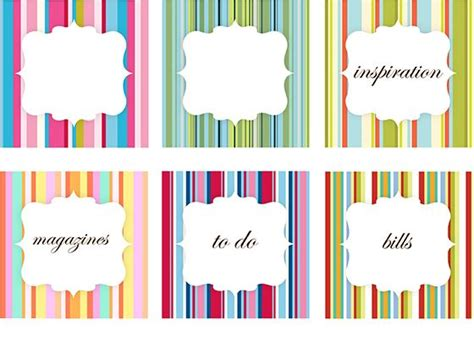printable labels organizing organizing labels organization pinterest