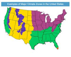 major climate zones in the united states quest science
