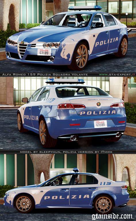 polizia di stato squadra volante gta 4 alfa romeo 159 polizia squadra volante mod