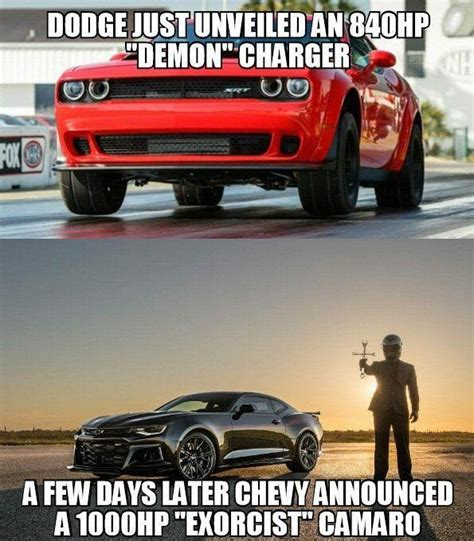 dodge memes car collection camaro exorcist vs dodge memes