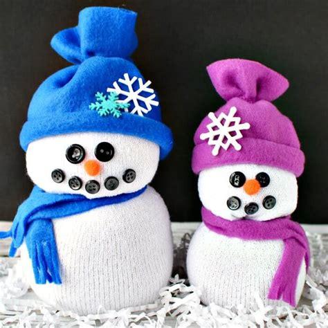 snowman sock yarn sock snowman craft snowman made out of socks
