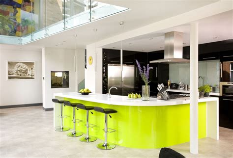 modern l shaped kitchen with island 20 modern kitchens with curved kitchen islands