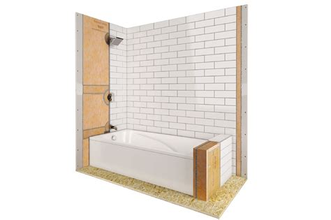 Waterproofing Bathtub Walls by Shower With Bathtub Schluter
