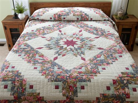 Lone Log Cabin Quilt Pattern by Lone Log Cabin Quilt Wonderful Well Made Amish
