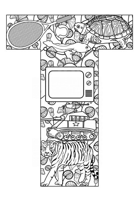 Free Coloring Pages Of Letter T Activities T Coloring Pages