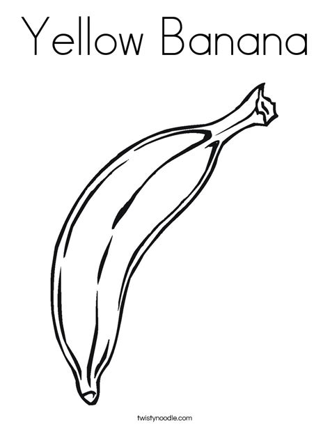 coloring pages for yellow yellow banana coloring page twisty noodle