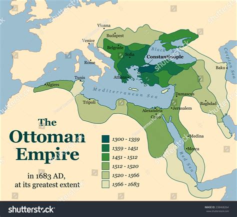 why was the ottoman empire important ottoman empire greatest extent 1683 vector stock vector