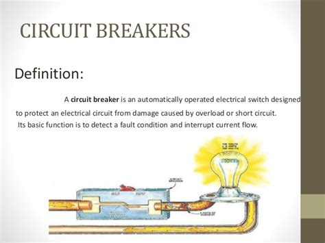 electric circuit definition circuit breakers