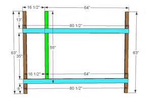 Bunk Bed Measurements Woodwork Built In Bunk Bed Dimensions Pdf Plans