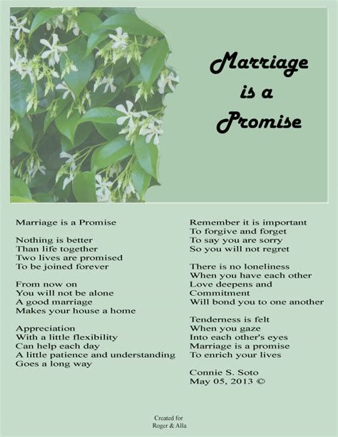 image gallery marriage promise