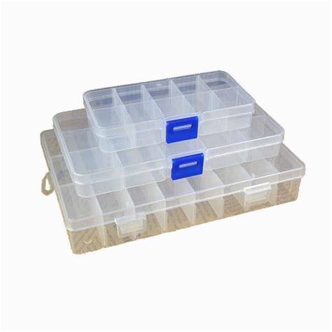 bead organizer box 10 15 24 compartments storage container plastic