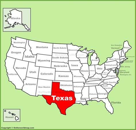 usa map texas state texas location on the u s map