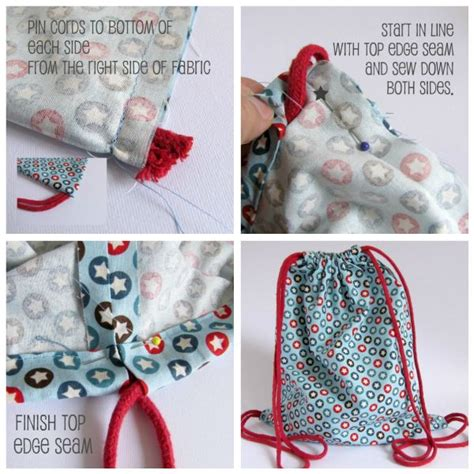 25 best ideas about drawstring backpack tutorial on