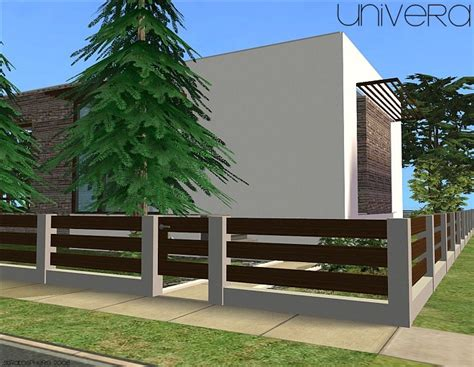 modern fence mod the sims quot univera quot fencing