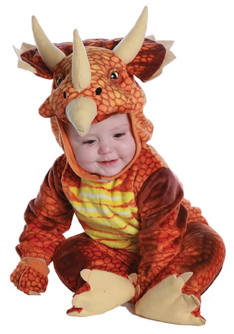 baby dino costume infant toddler rust triceratops costume