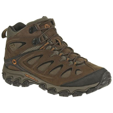 waterproof mens hiking boots s merrell 174 pulsate mid waterproof hiking boots
