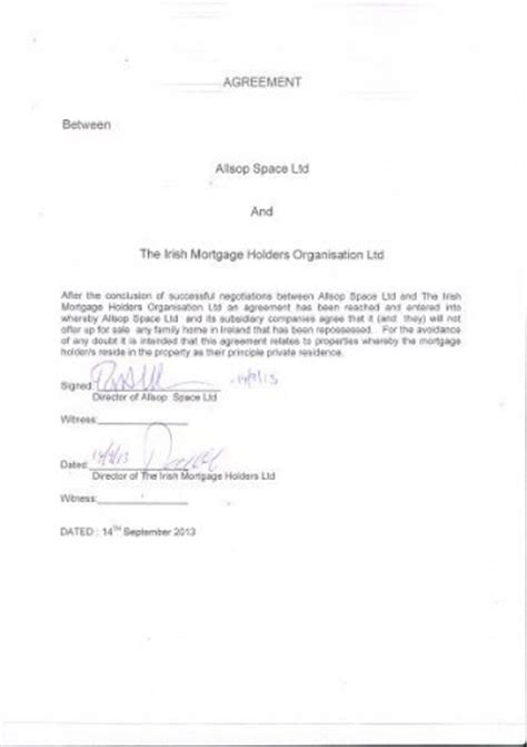 Letter Of Agreement Signatures Allsop Signs Deal That Will Stop The Auctioning Of Repossessed Homes