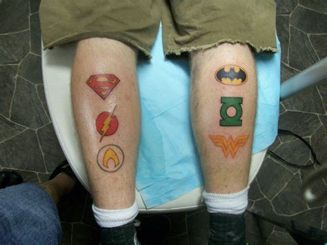 justice league tattoos justice league picture