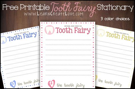 tooth stationery template tooth printable stationary
