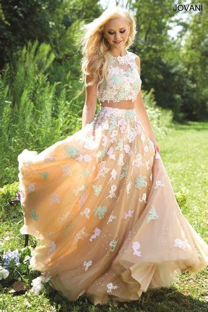 Ramilsha Flowery Longsleeve Muslim Set dress prom jovani floral two prom dress