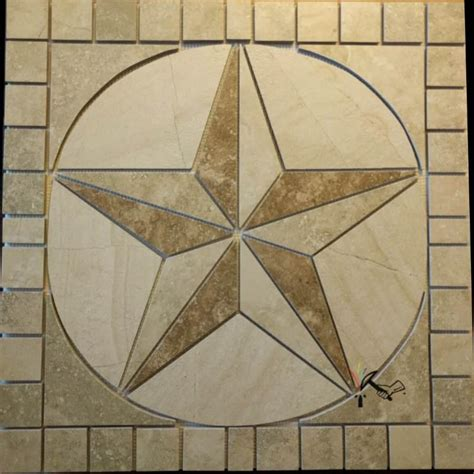 24 quot texas star in backsplash of outdoor kitchen texas made to order allow 2 to 3 weeks porcelain tile texas