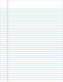 printable lined paper simple blue and colored lined