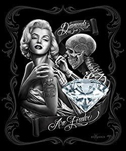 amazon com marilyn monroe diamonds are forever queen size