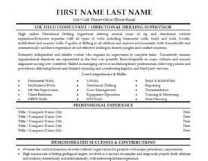 Drilling Supervisor Sle Resume by Directional Drilling Supervisor Resume Template Premium Resume Sles Exle