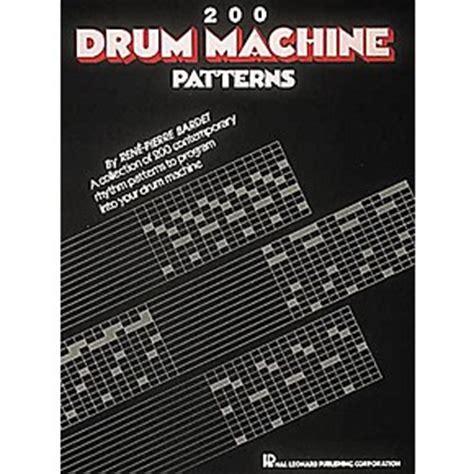 Drum Pattern Book | hal leonard 200 drum machine patterns book guitar center