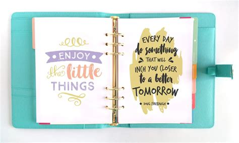 Motivational Wall Stickers the inspired life planner a pretty printable planner for