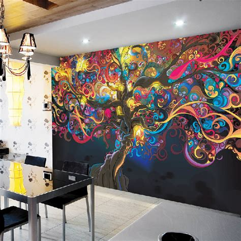 Family Tree Wall Murals pics for gt psychedelic tree wallpaper