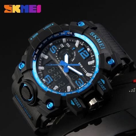 Dijamin Jam Tangan Digital Skmei Sport Rubber Led 1145 skmei jam tangan analog digital pria ad1155 black blue jakartanotebook