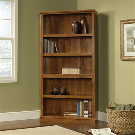 sauder corner bookcase sauder 5 shelf bookcase oak walmart