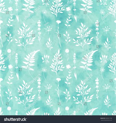 watercolor ink pattern hand painted watercolor ink leaves seamless stock vector