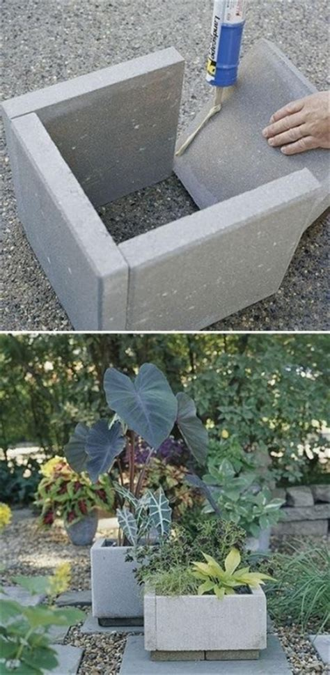 Concrete Paver Planters by Upcycled Garden Style A Website From Gardens Inspired