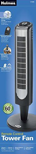 holmes remote control tower fan holmes 36 inch oscillating tower fan with remote control