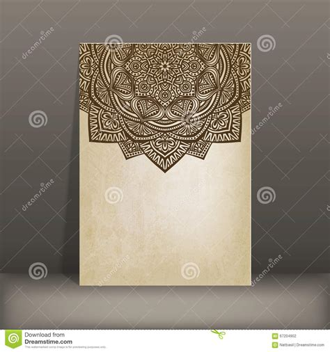pattern card stock paper old paper card with circular pattern stock vector image