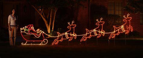 lighted decorations led lighted reindeer decoration rainforest