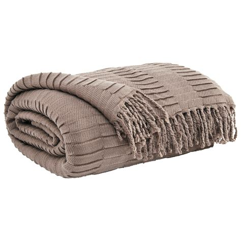 recliner throw ashley signature design throws mendez taupe throw dunk