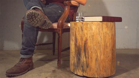 tables made from logs diy floating log end table modern builds ep 4