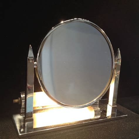 deco lighted magnifying mirror for sale at 1stdibs