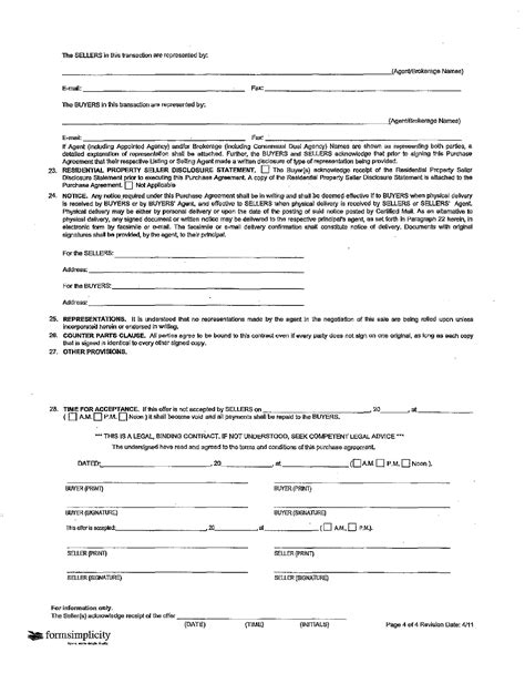 Acceptance Letter Real Estate Free Iowa Resdential Purchase Agreement Offer To Buy Real Estate And Acceptance Form Formxls