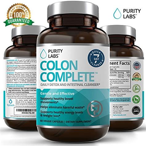 Premium 100 Colon Cleanse Detox by Coconut Colon Cleanse Aids In Eliminating Toxins