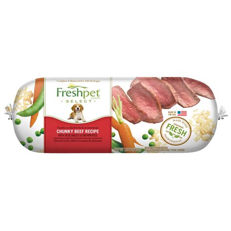 fresh pet food freshpet select chunky beef with vegetables brown rice fresh food 1 5 lb jet