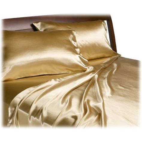 satin bed sheets queen satin bedding flat fitted sheet set gold bronze ebay