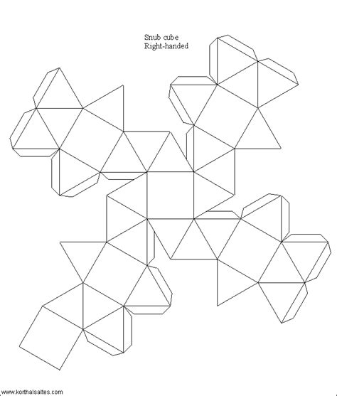 Paper Snub Dodecahedron - paper snub cube