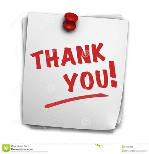 Thank You Letter Sign Thank You Sign Stock Illustration Image 49904522