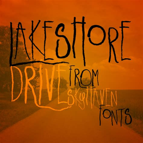 dafont halloween lakeshore drive font dafont com