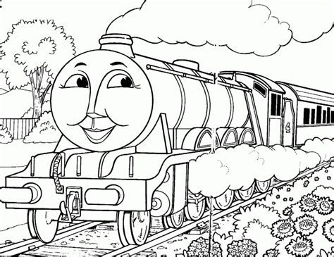 coloring pages thomas the train thomas the train color pages coloring home