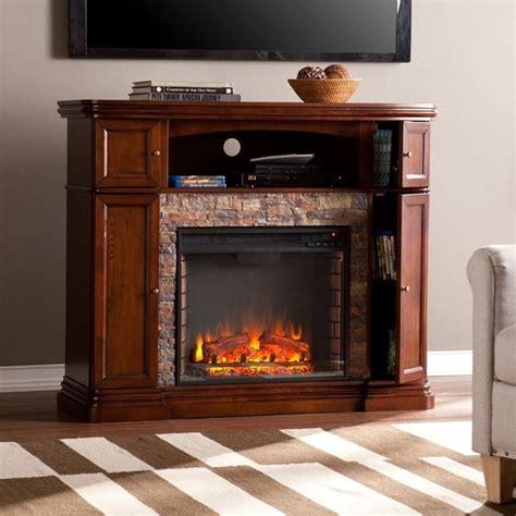 southern enterprises hillcrest faux stone fireplace tv
